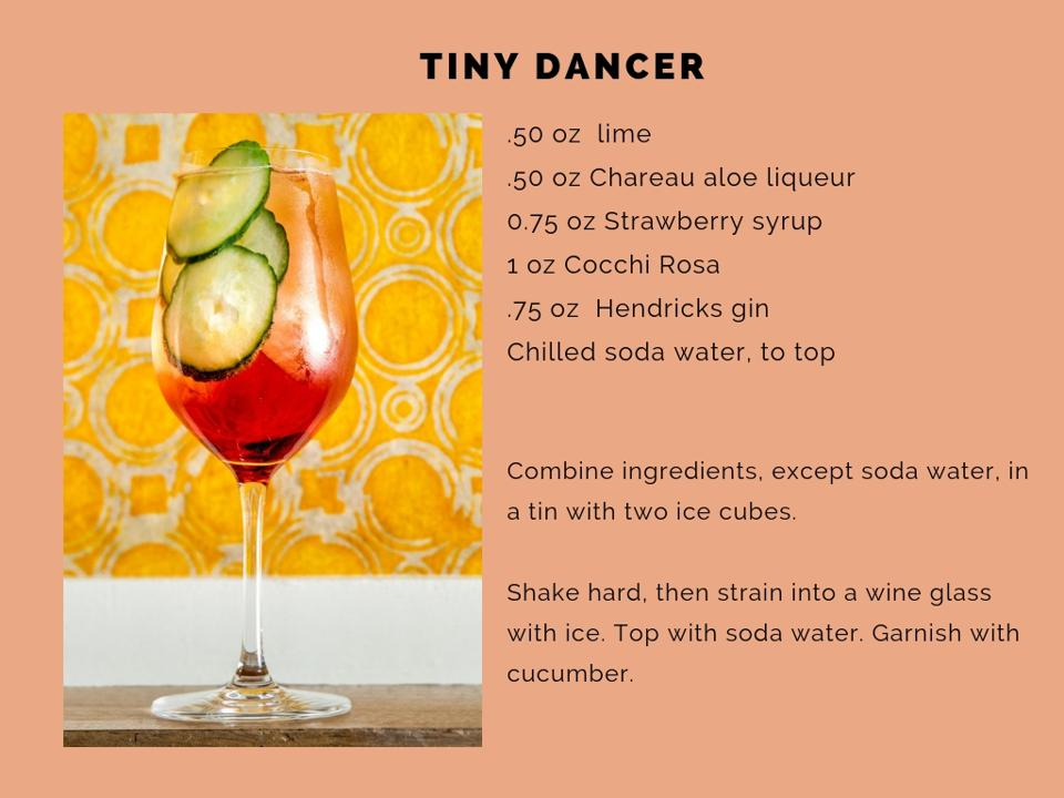 The Tiny Dancer cocktail.
