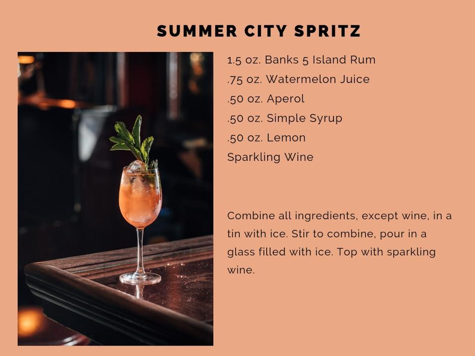 Summer City Spritz recipe.