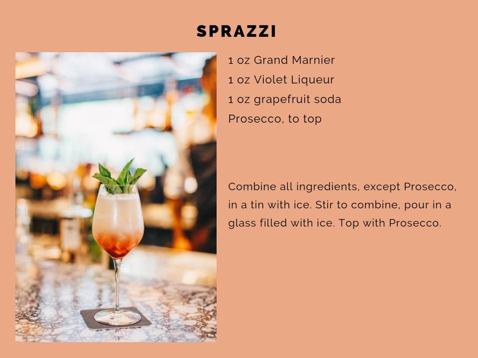 The Sprazzi cocktail.