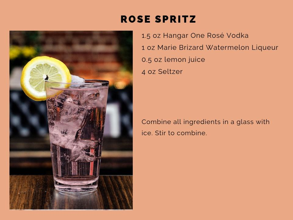 The Rose Spritz cocktail.
