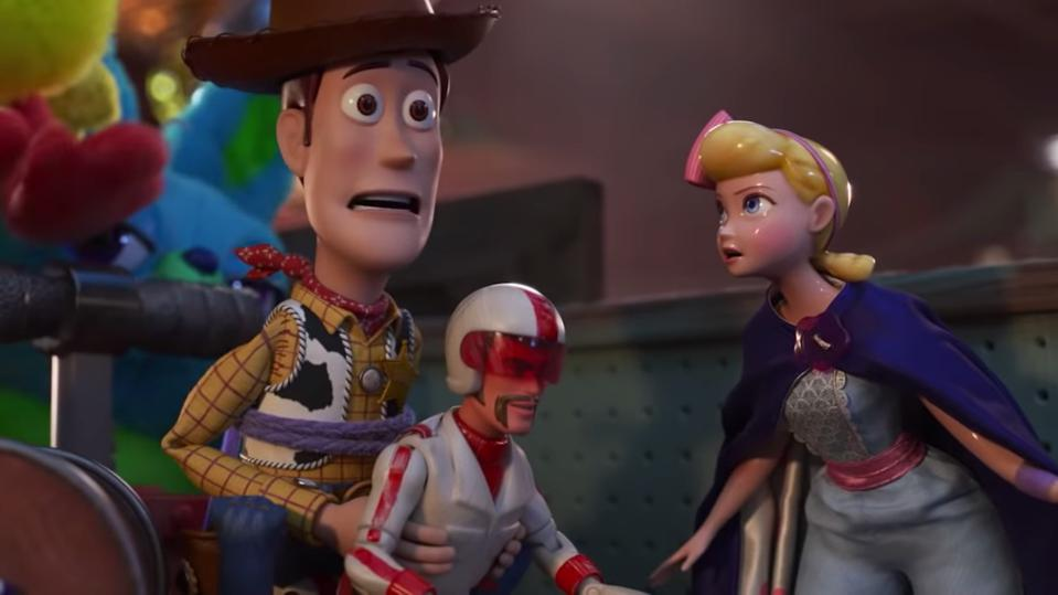 Tom Hanks, Keanu Reeves and Annie Potts in 'Toy Story 4'