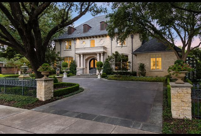 This French-Inspired Mansion In Dallas Will Be Sold At Auction With No Reserve
