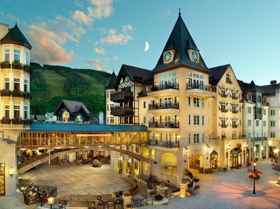 One of Vail's luxurious resorts, the Arrabelle at Vail Square.