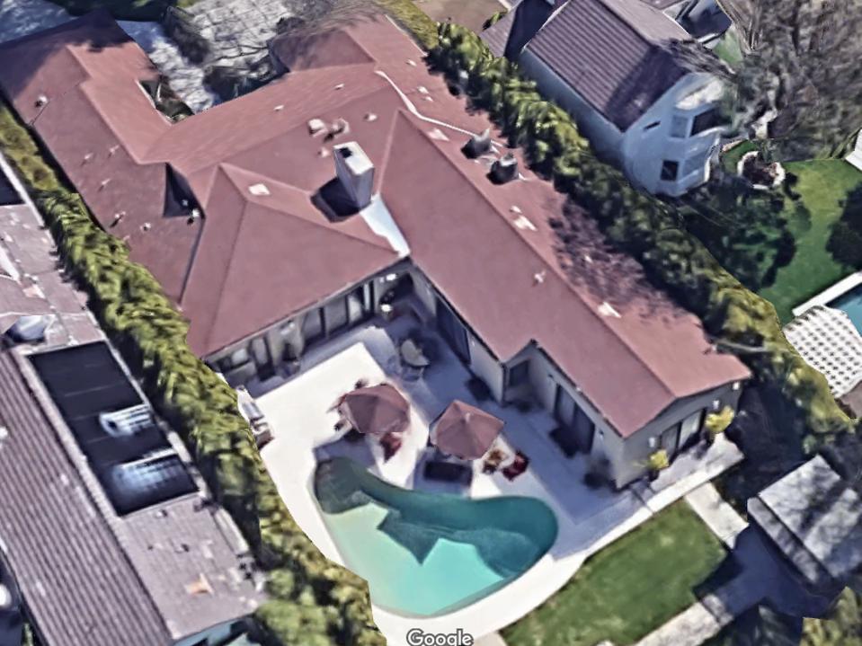Kamala Harris luxury home in Brentwood, Los Angeles.