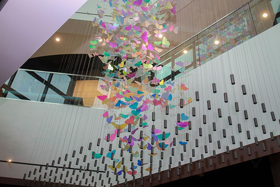 Holocaust Museum Houston's new $34 million facility features a Butterfly Loft. Each of the 1,500 butterflies represents 1,000 children who perished during the Holocaust.