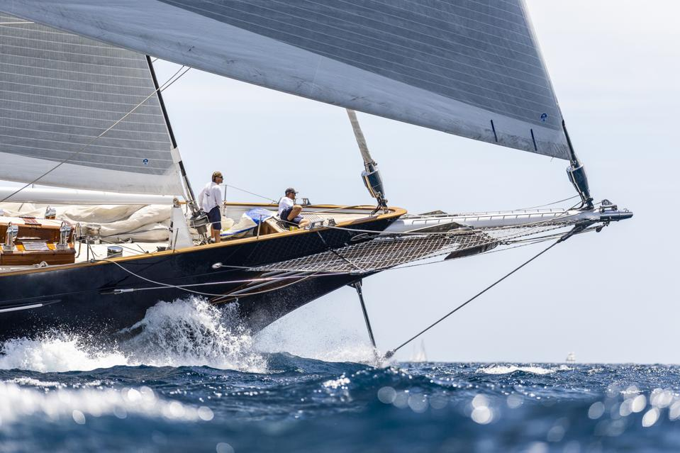 Large yachts compete for bragging rights at the Superyacht Cup Palma 2019