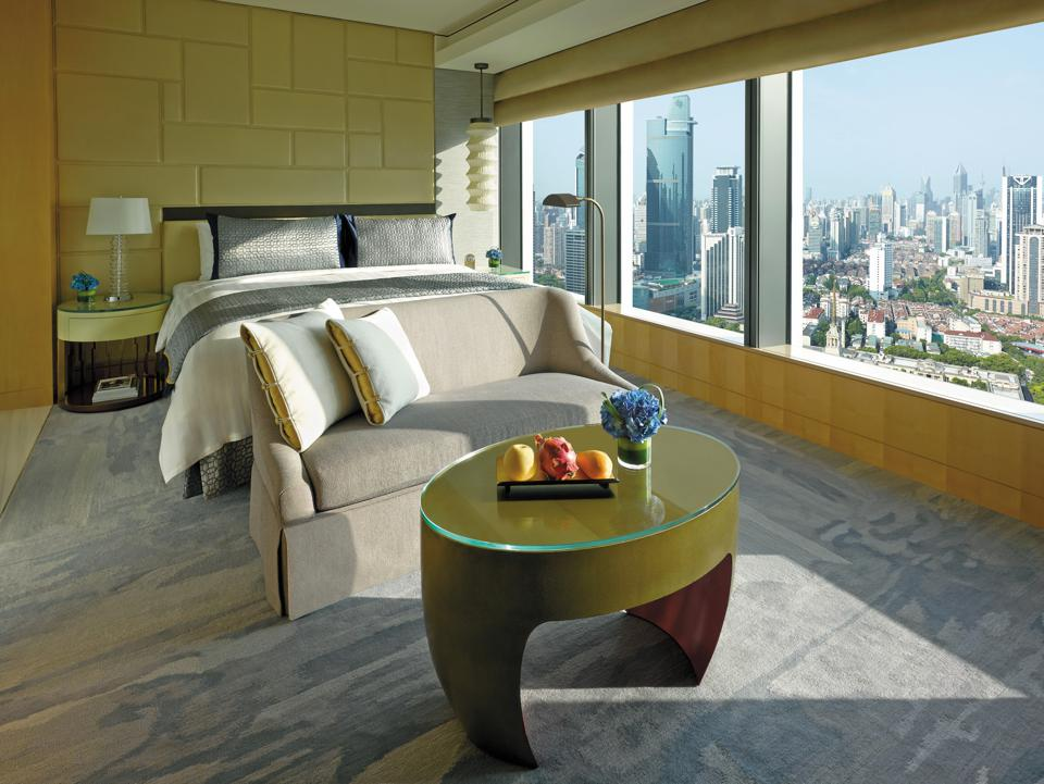 A Deluxe Room at Jing An Shangri-La