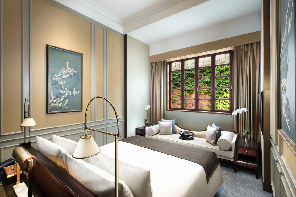 The bedroom of a Shikumen Villa at Capella Shanghai