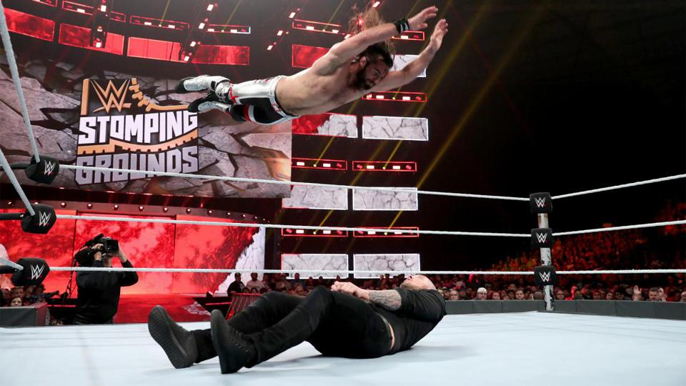 Seth Rollins WWE Raw Stomping Grounds 2019