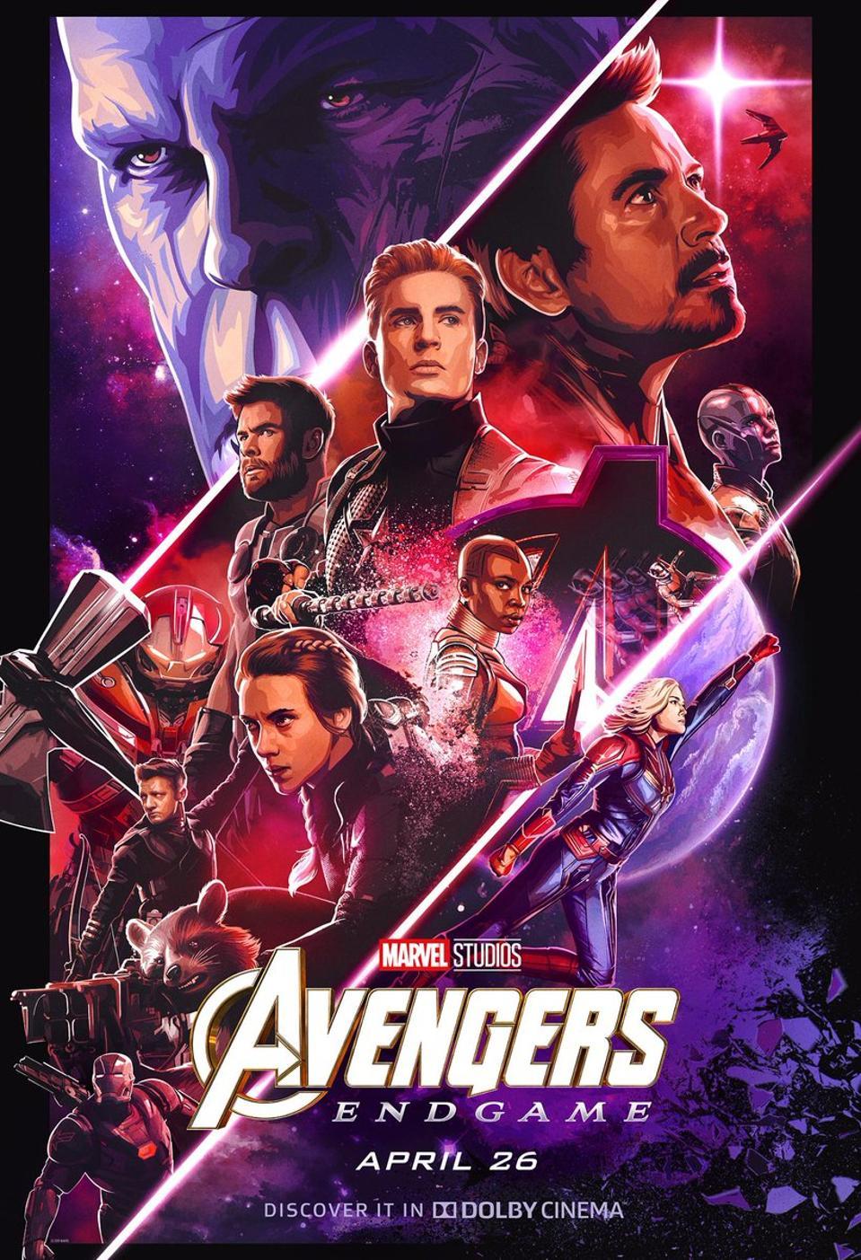 Official poster for Avengers: Endgame