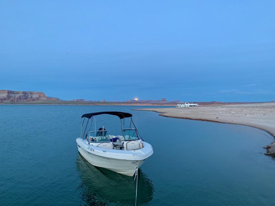 Power boat on Lake Powell