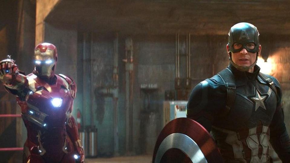 Robert Downey Jr. and Chris Evans in 'Captain America: Civil War'