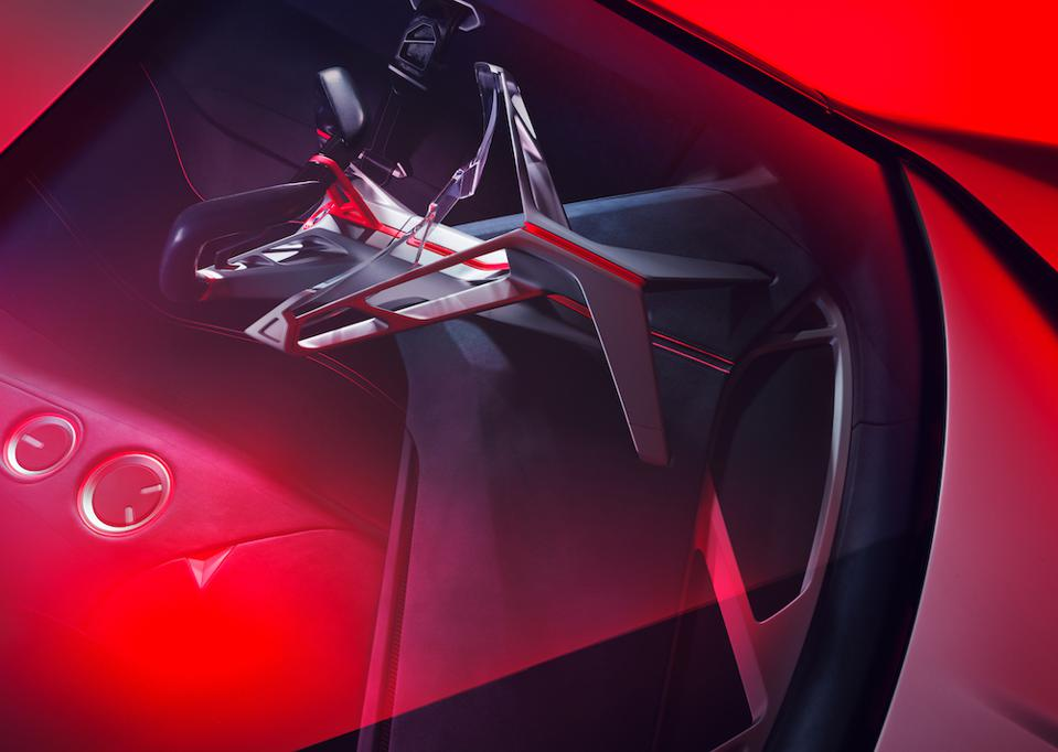 The Vision M Next information displayed adapts to the car's speed and driving habits