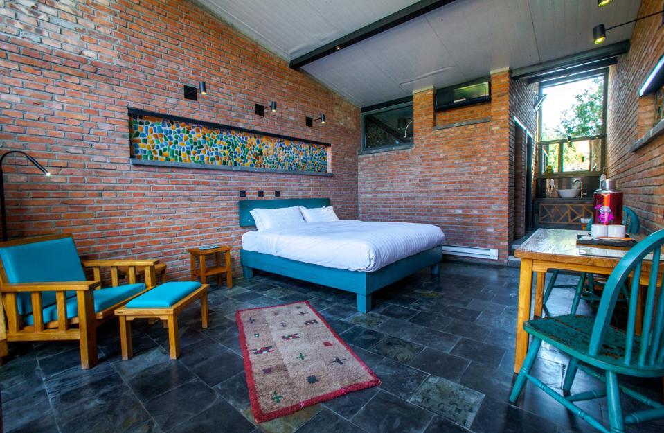 A Premium Queen room at Brickyard Retreat at Mutianyu Great Wall
