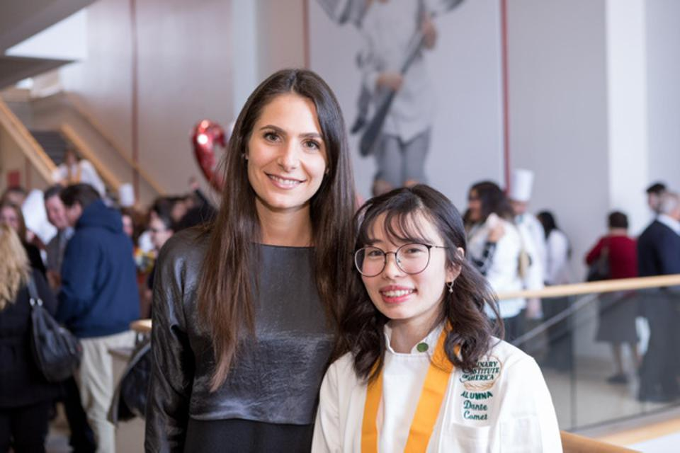 Food Dreams creator and Executive Director, Louise Ulukaya and a recent graduate of the CIA