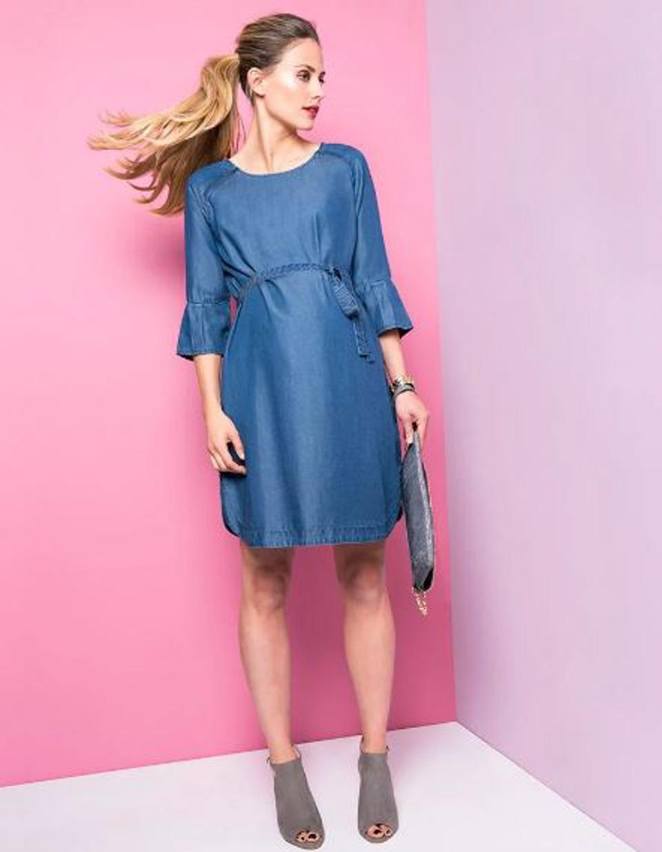 e4e1bde3ab505 Seraphine. Seraphine. Seraphine. Chambray Denim Maternity and Nursing Dress  by Seraphine