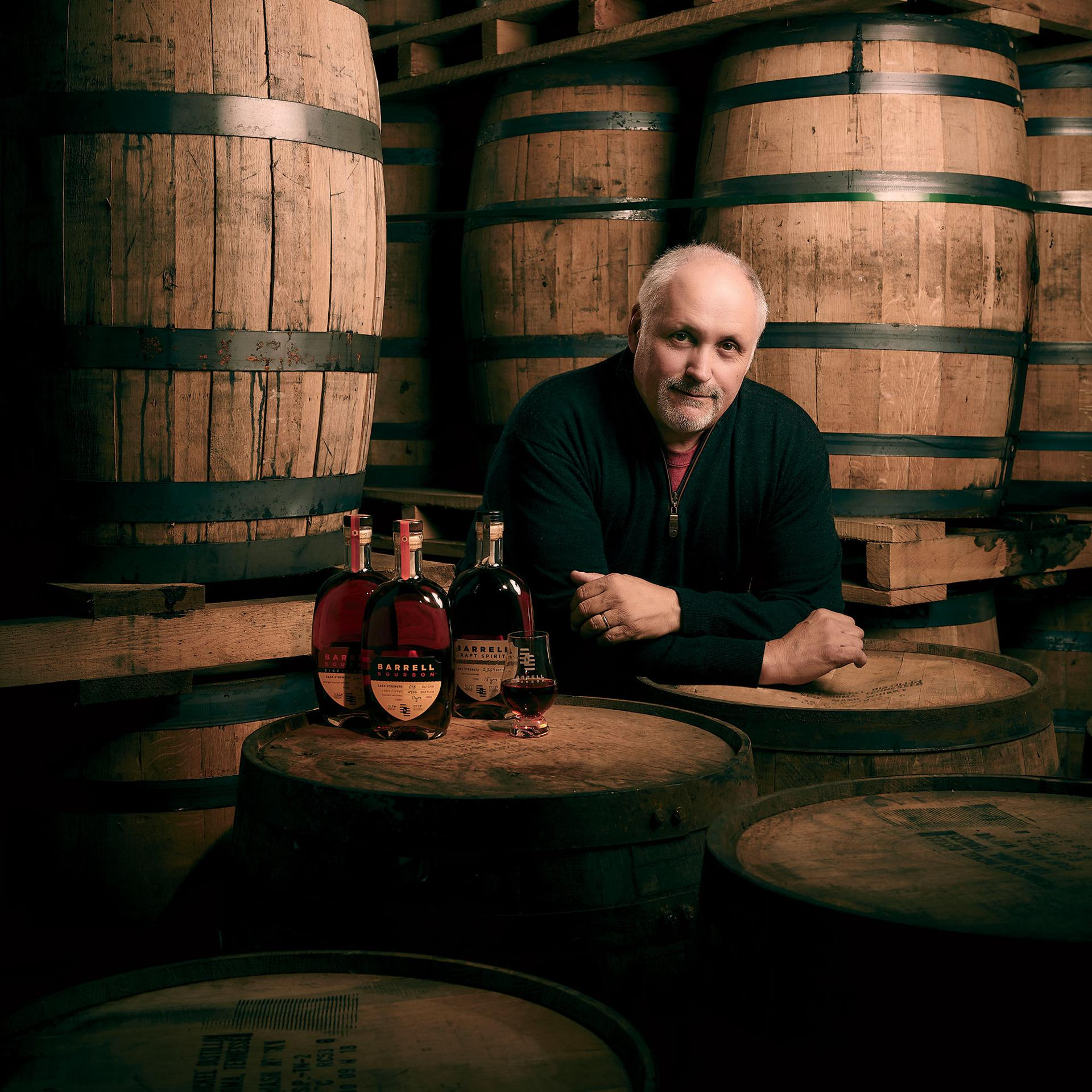 Cask Master: Joe Beatrice, founder of Barrell Craft Spirits, at his Louisville headquarters. He chose to build the brand before building a distillery.