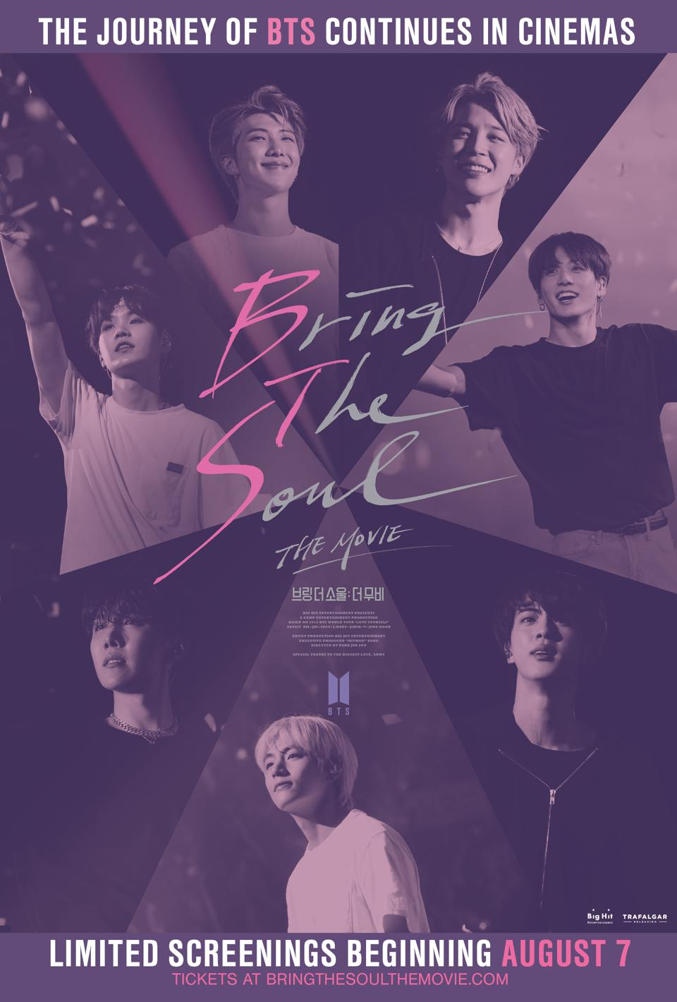 A poster for BTS's 'Bring the Soul: The Movie.'
