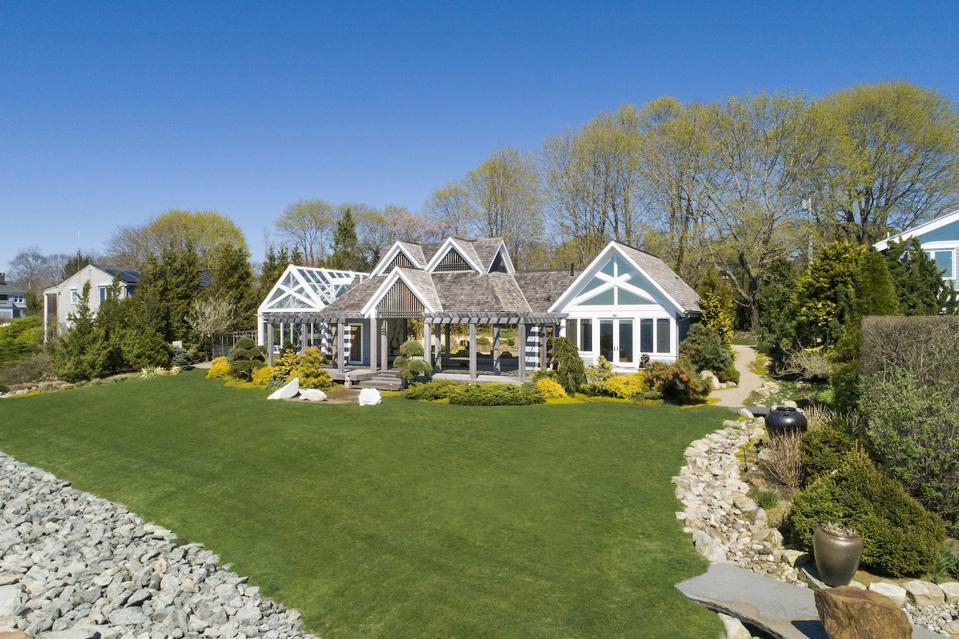 A compound located 73, 79, 85 & 91 Shore Road in Bristol Highlands, Rhode Island is on the market for $8.5 million and is listed with Christie's International Real Estate.