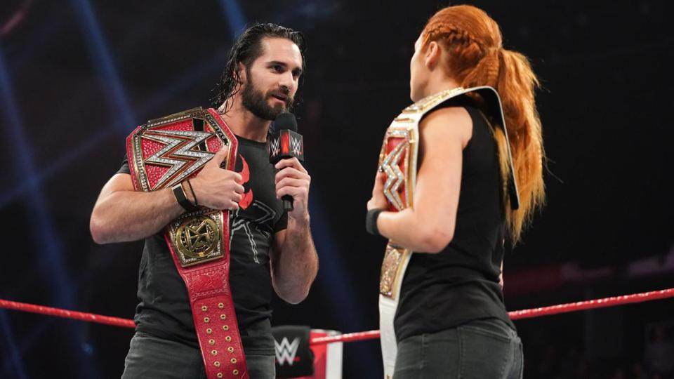 Seth Rollins and Becky Lynch