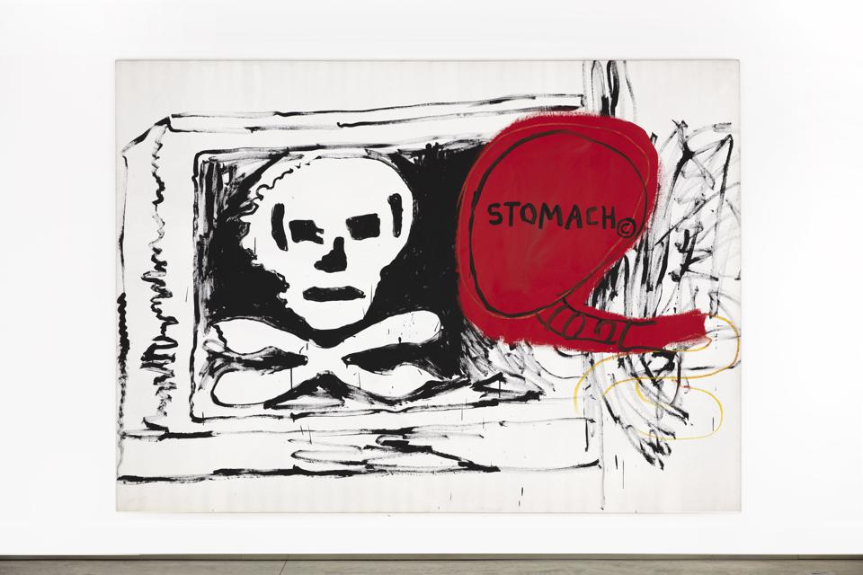 JEAN-MICHEL BASQUIAT AND ANDY WARHOL, Untitled, 1984-85, acrylic, silkscreen and oil on canvas, 76.375 x 105.125 inches.