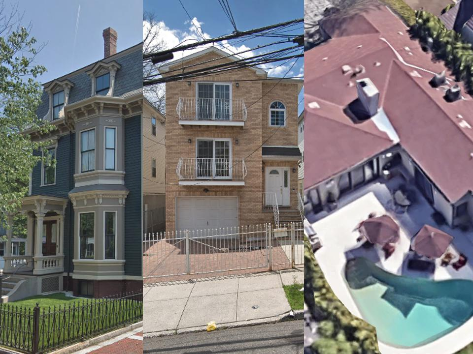 Democratic candidates' homes
