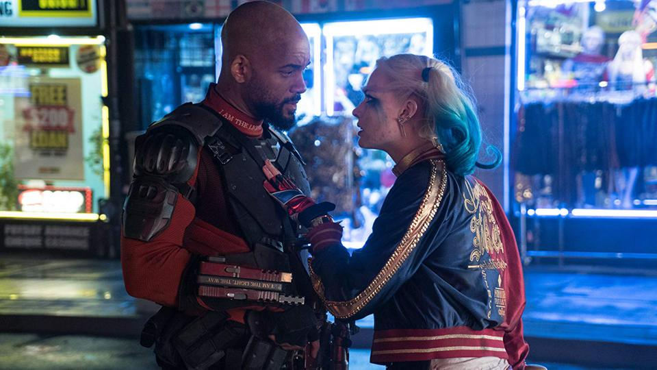 Will Smith and Margot Robbie in Suicide Squad (2016)