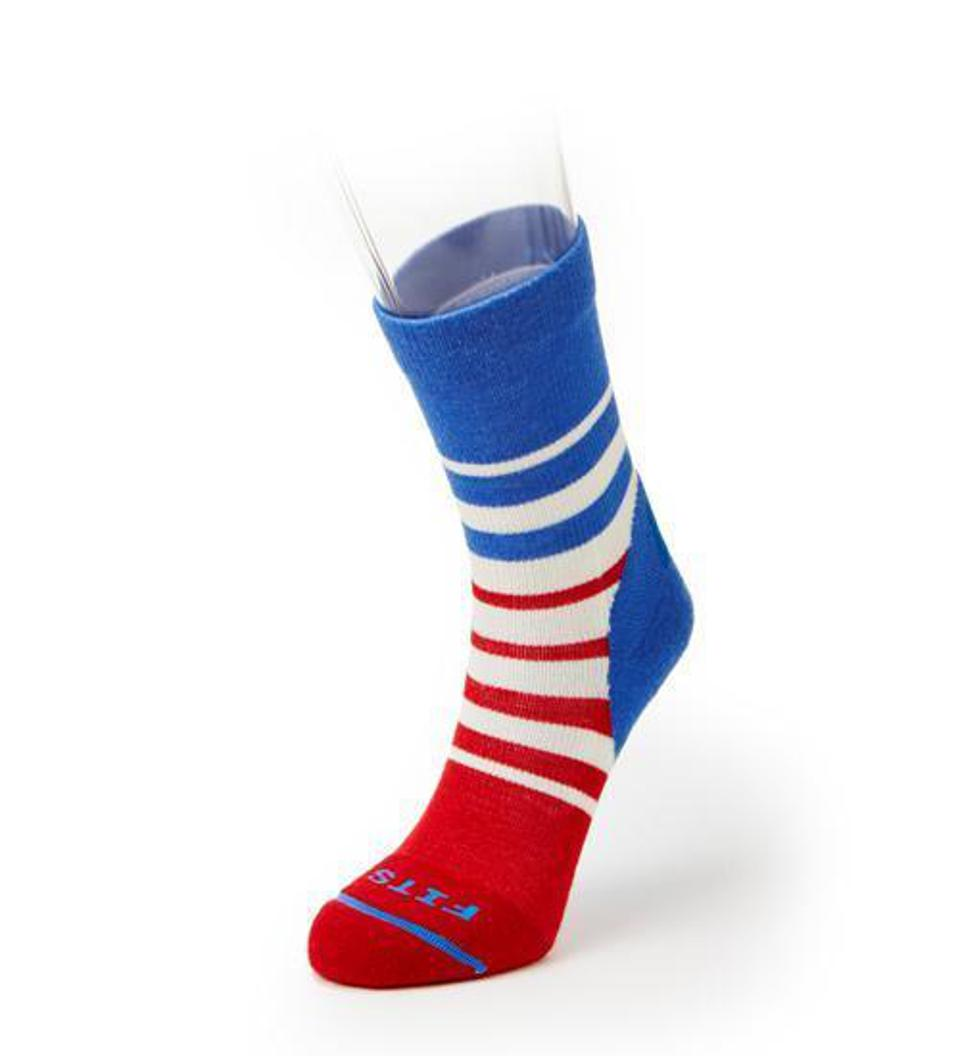 Red, white and blue sock