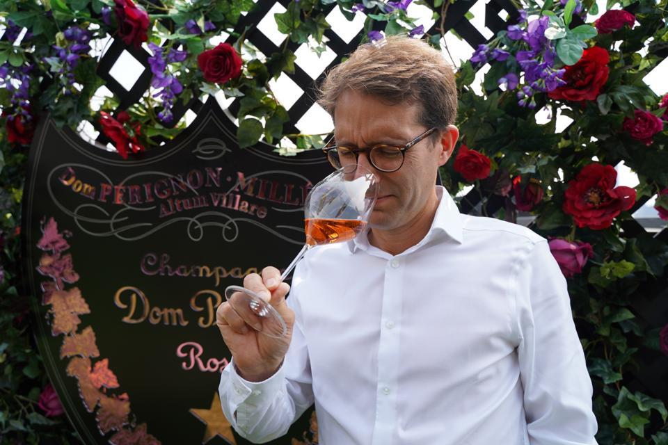 Dom Pérignon chef de cave Vincent Chaperon at the Surrey, New York.