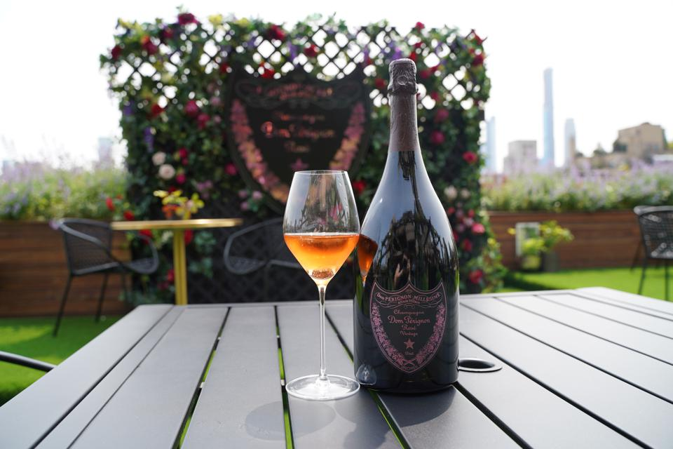 The newly released Dom Pérignon Rosé 2006, at The Surrey, New York.