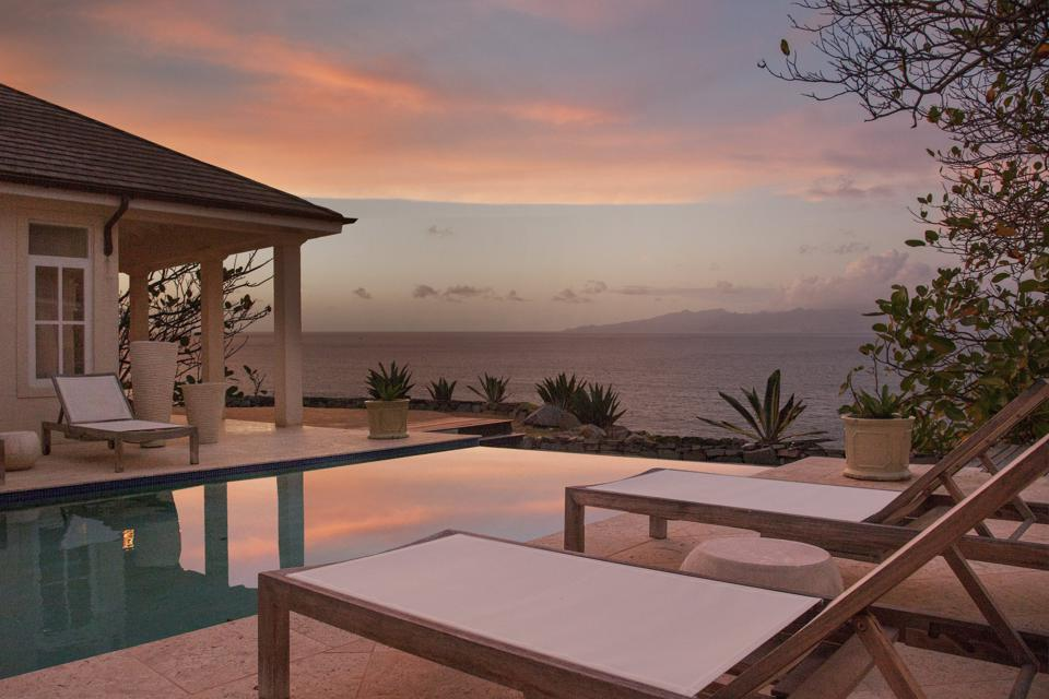 Infinity pool at The Liming in Bequia