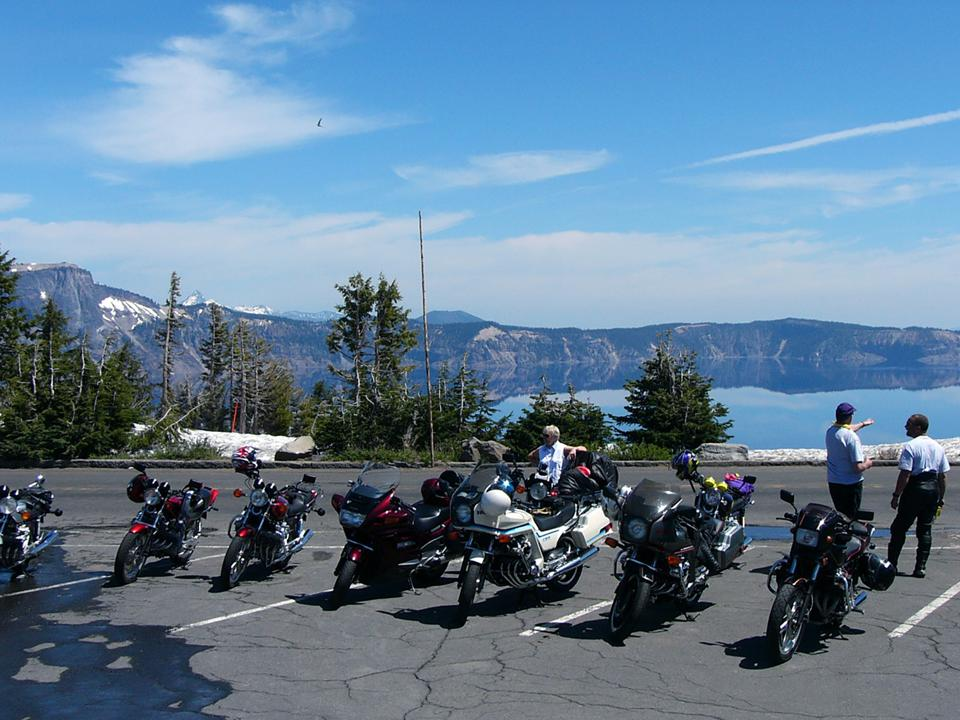 Crater Lake is a popular destination for every kind of bike and rider.