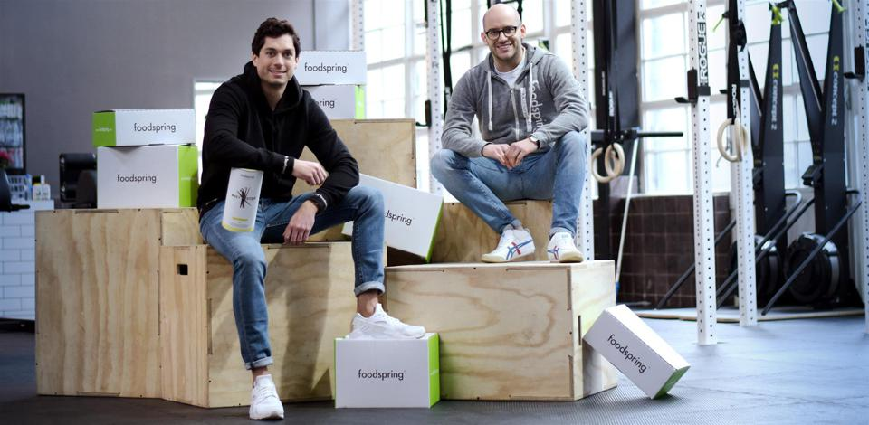 Philipp Schrempp (left), Tobias SchuÌle (right), the founders of Foodspring.