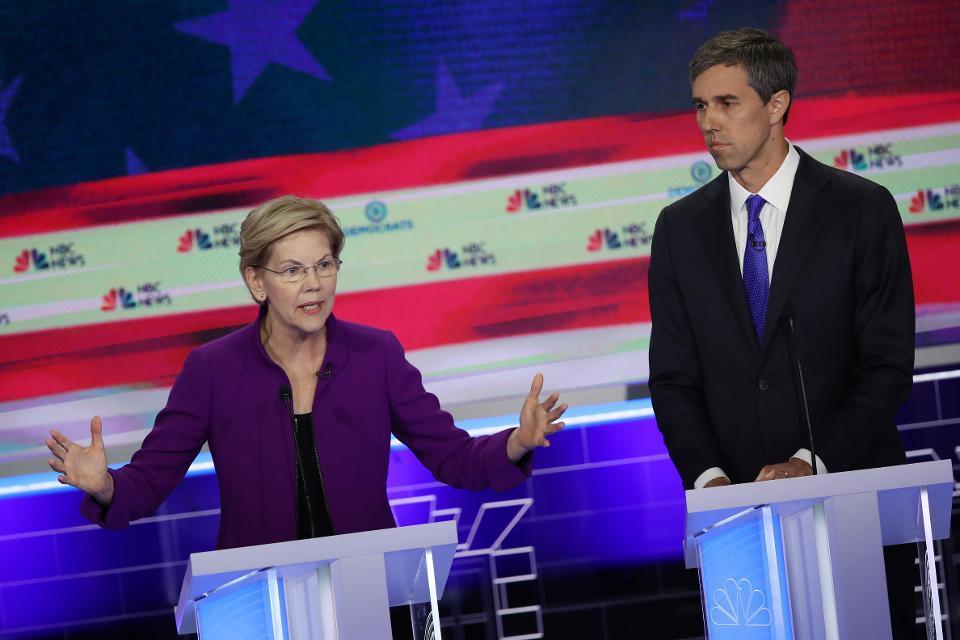 At the Democratic debate, Elizabeth Warren supported scrapping private health insurance.