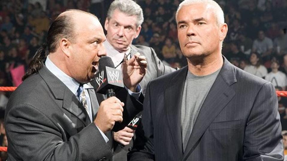 WWE Raw SmackDown Live Eric Bischoff Paul Heyman Vince McMahon
