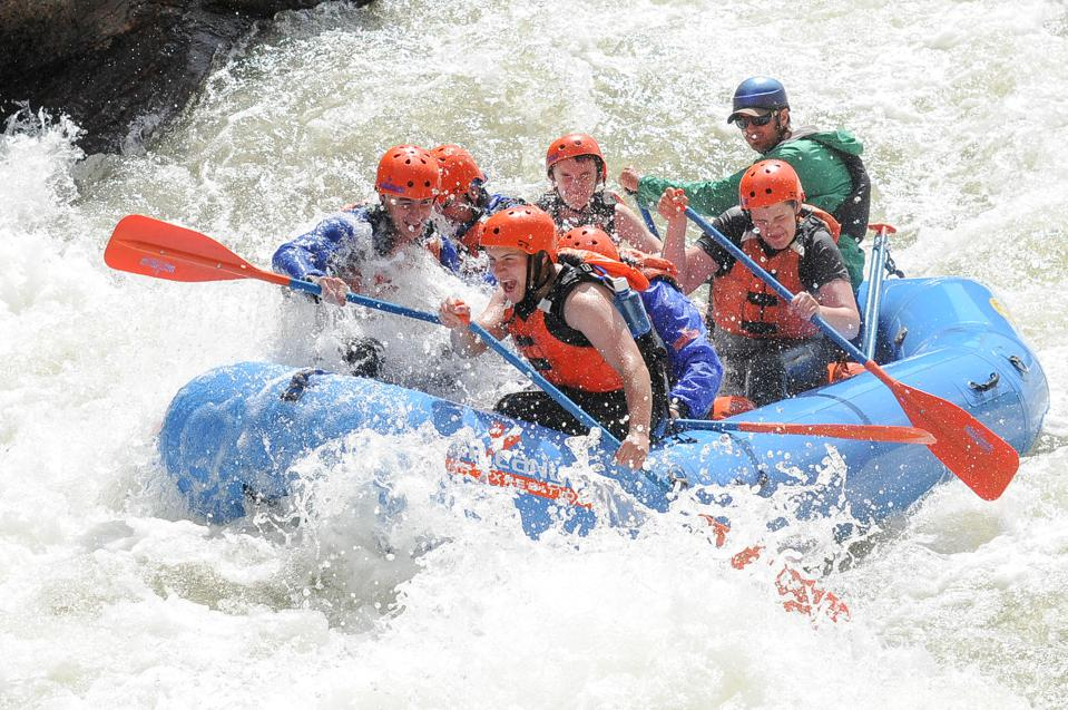Whitewater rafting along the Arkansas River in Colorado.