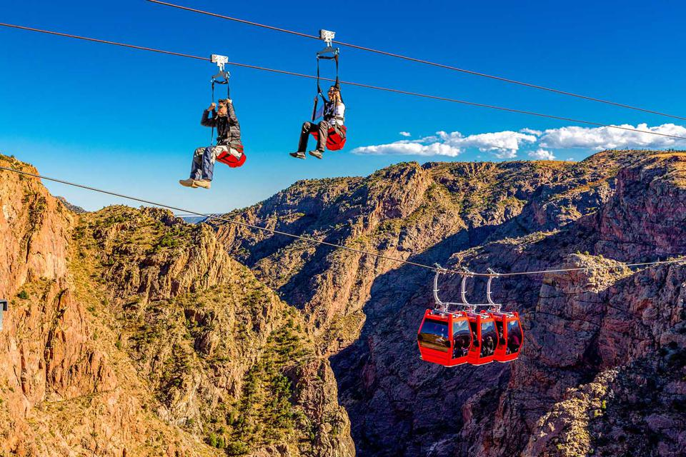 Gondola and ziplines above the Royal Gorge.