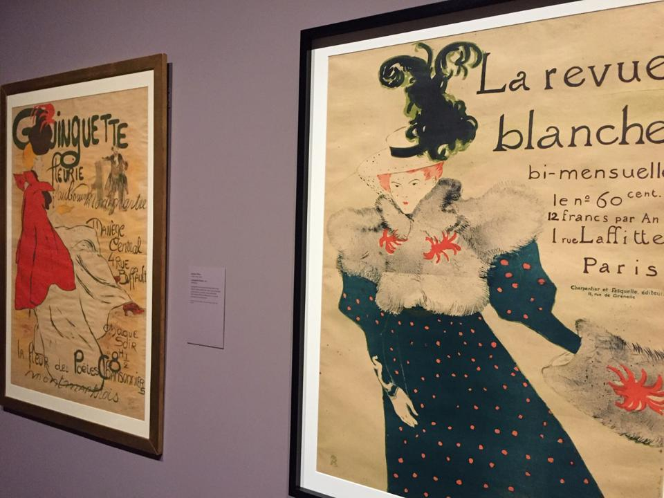 Installation photo from Museum of Fine Arts, Boston exhibition 'Toulouse-Lautrec and the Stars of Paris.'