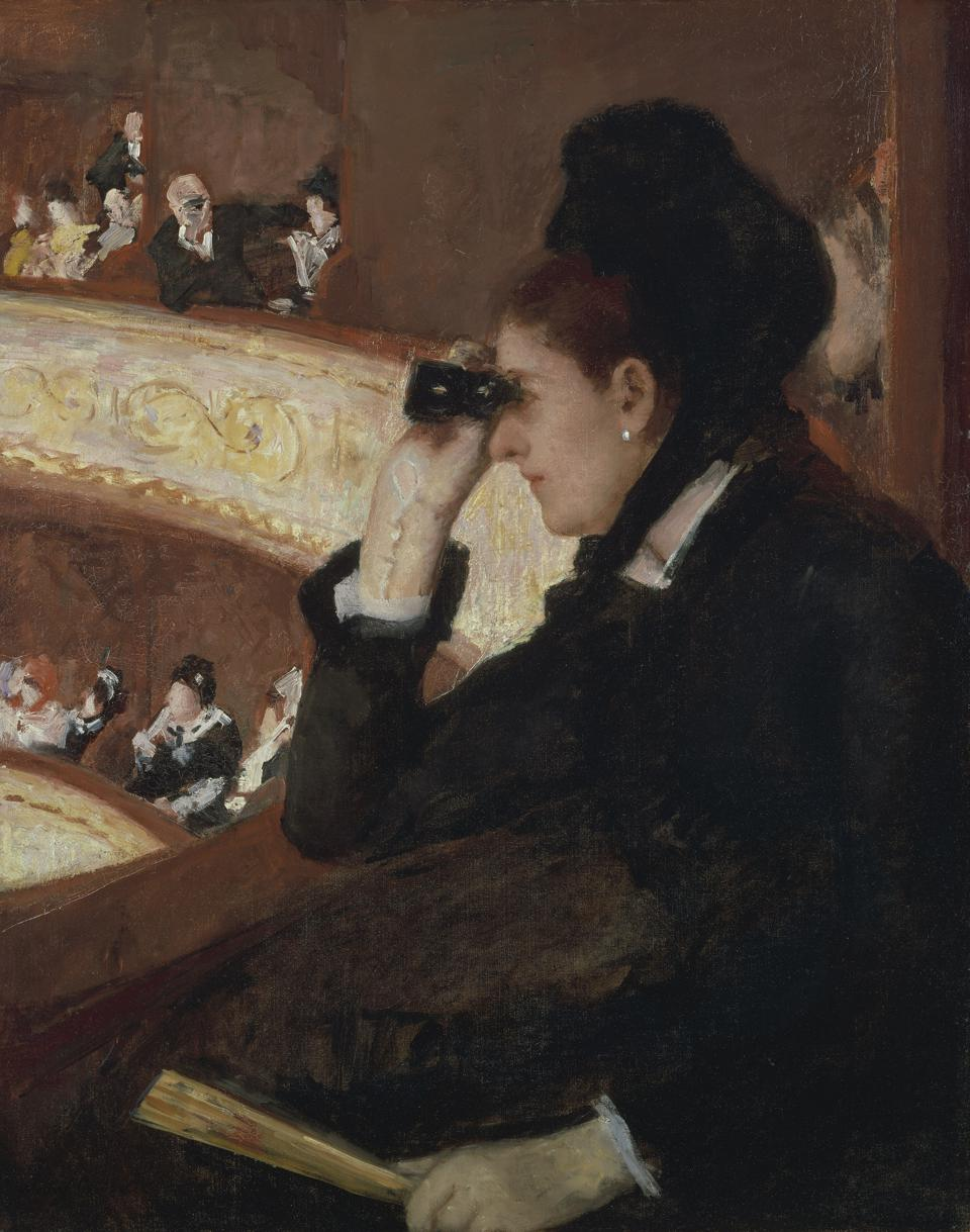 'In the Loge,' 1878, Mary Stevenson Cassatt. One of the featured artworks the Museum of Fine Arts, Boston has added to its exhibit, 'Toulouse-Lautrec and the Stars of Paris.'