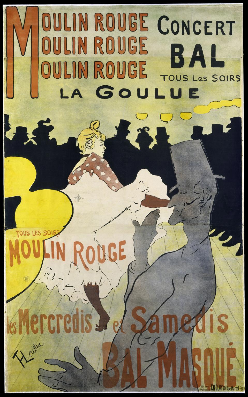 Henri de Toulouse-Lautrec (French, 1864–1901), Moulin Rouge: La Goulue, 1891.