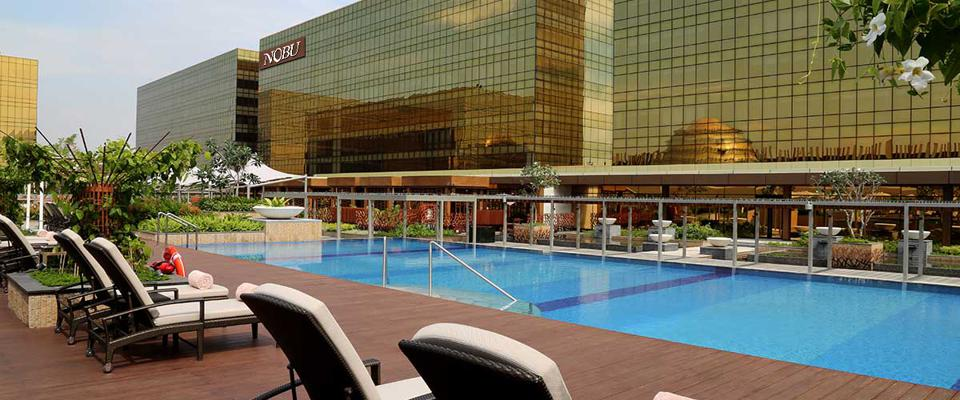 Pool deck at Nobu Hotel Manila