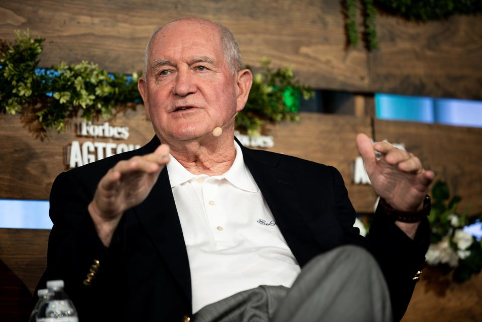 Sonny Perdue at the 2019 Forbes AgTech Summit.