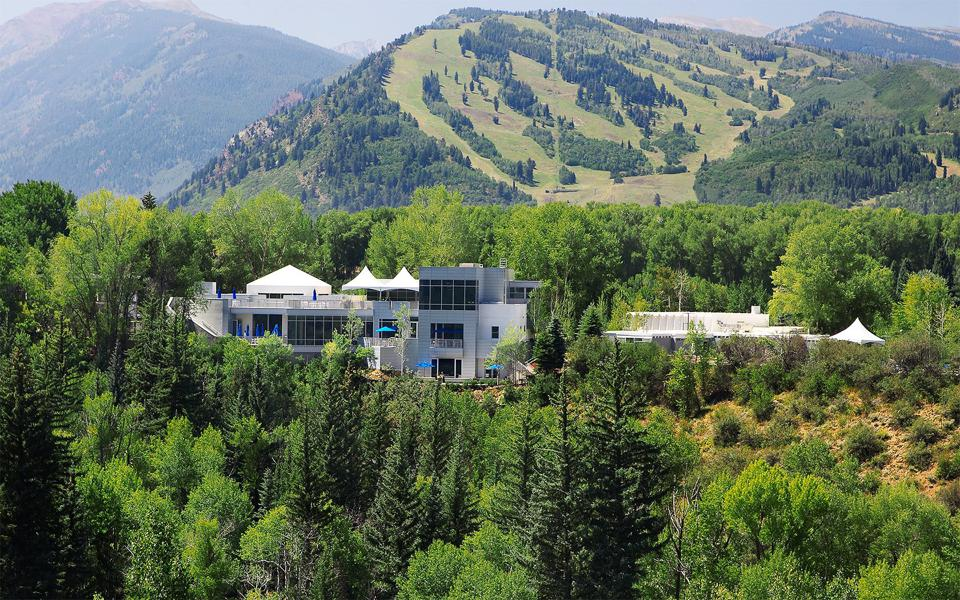 The Aspen Meadows Resort is surrounded by picturesque mountain views.