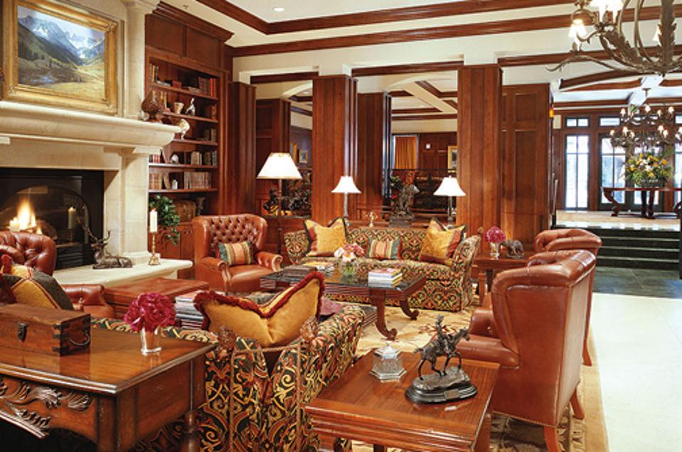 The opulent interior of Ritz-Carlton, Aspen Highlands.