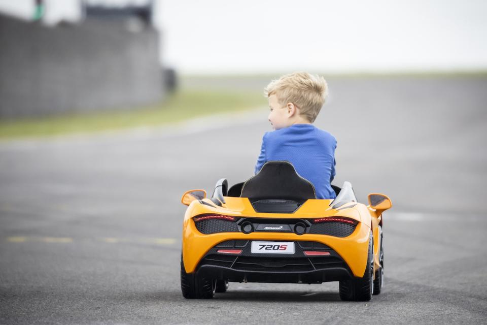 The McLaren 720S Ride-On is aimed at 3 to 6-year olds