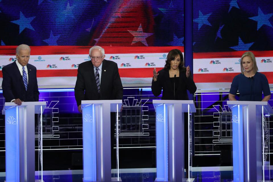Kamala Harris made a forceful attack against Joe Biden during the Democratic debate
