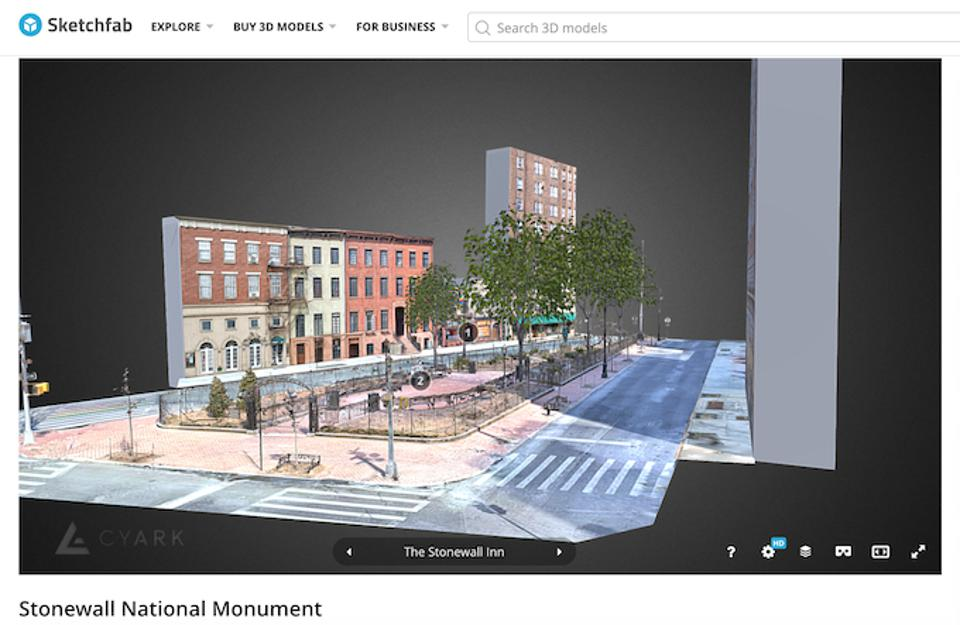Interactive 3D environments allow users to navigate the Stonewall Inn and its environs as they appeared in 1969.