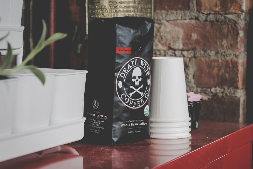 Death Wish Coffee's practical, affordable and relatable product.