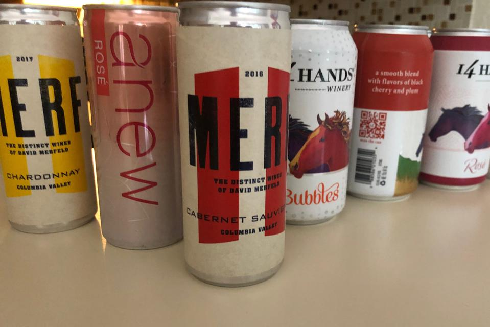 Canned wine from Ste. Michelle Wine Estates