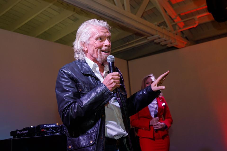 Sir Richard Branson, Virgin Atlantic Kick Off Los Angeles To